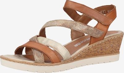 REMONTE Sandalen in beige / braun, Produktansicht