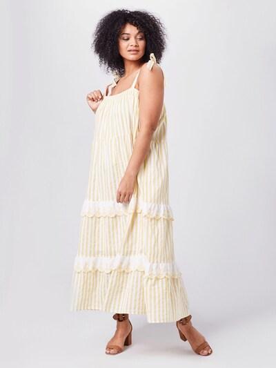 Cotton On Curve Kleid 'CLARISSA' in gelb / weiß, Modelansicht
