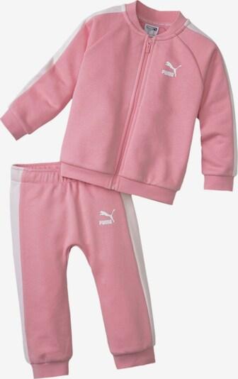 PUMA Minicats T7 Full Zip Babies Jogginganzug-Set in rosa, Produktansicht