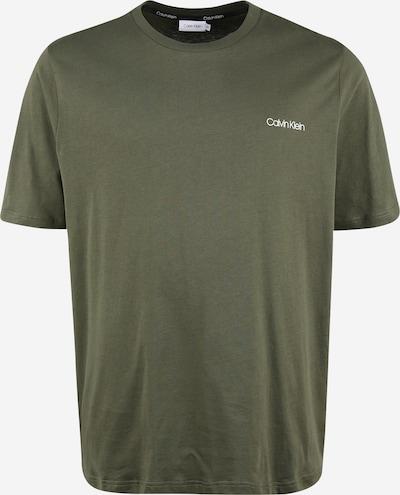 Calvin Klein Camiseta en oliva / blanco: Vista frontal