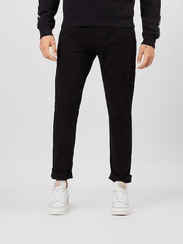 Tommy Jeans Chino-püksid 'Scanton', värv must