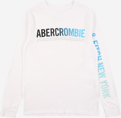 Abercrombie & Fitch Shirt 'HIKE BEAST' in blue / grey / pastel green / black / off white, Item view