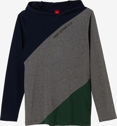 s.Oliver Hoodie in nachtblau / graumeliert / grün, Produktansicht