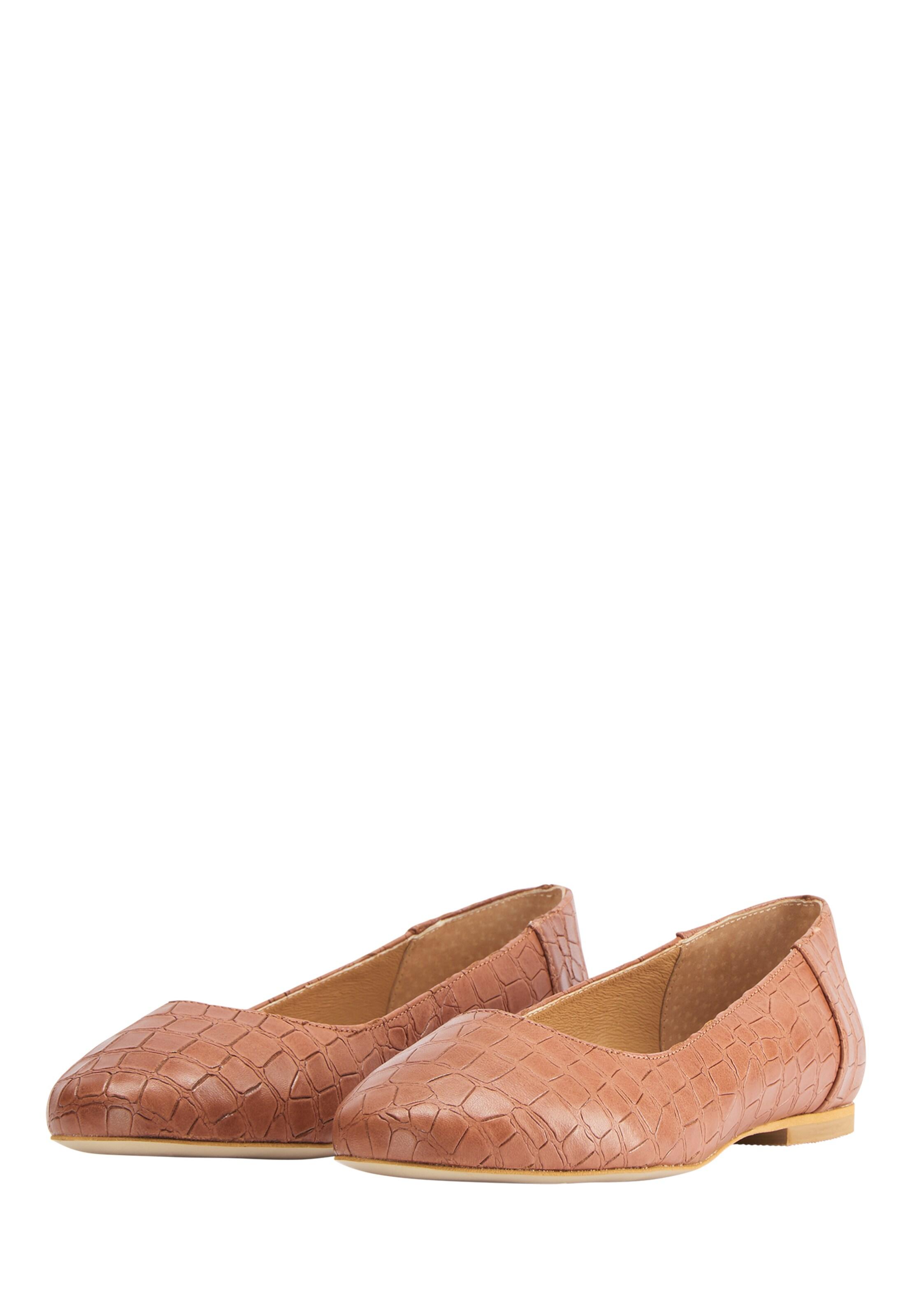 DreiMaster Vintage Ballerina in Bruin Leer 4063523186503