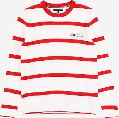 TOMMY HILFIGER Pullover in rot / weiß, Produktansicht