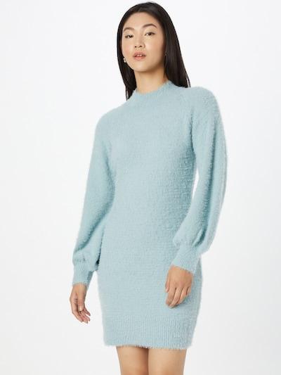 Rochie tricotat 'Bell' Bardot pe albastru deschis, Vizualizare model