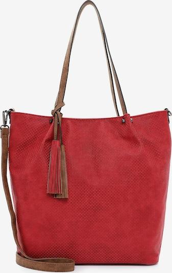 Emily & Noah Shopper ' Bag in Bag Surprise ' in braun / rot, Produktansicht