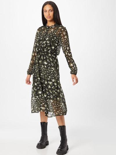 PULZ Jeans Košeľové šaty 'Monica' - zelená / čierna / biela, Model/-ka