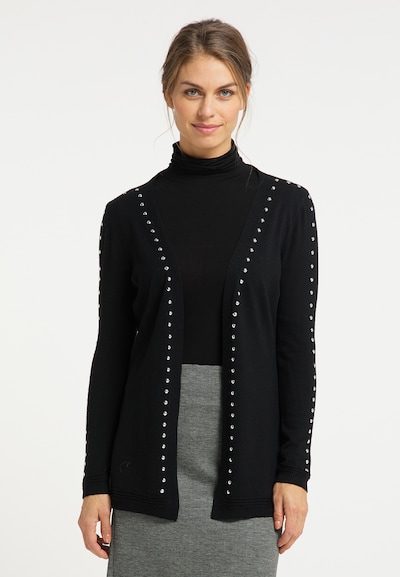 Usha Cardigan in schwarz, Modelansicht