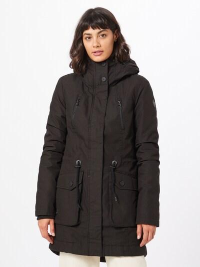 JACQUELINE de YONG Tussenmantel 'JDYSHELBY BELT RAINCOAT OTW NOOS' in de kleur Zwart, Modelweergave