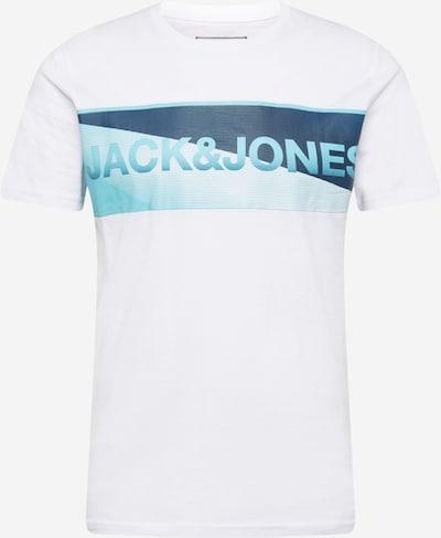 JACK & JONES Majica 'JENSON' | marine / svetlo modra / bela barva, Prikaz izdelka