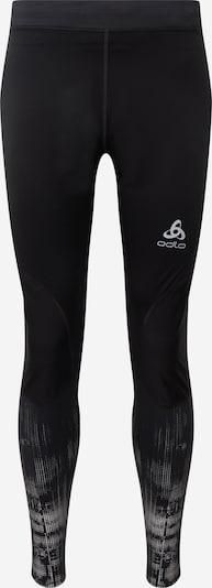 ODLO Športne hlače | siva / črna / bela barva, Prikaz izdelka
