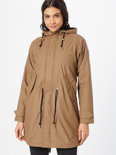 Derbe Mantel in braun, Modelansicht