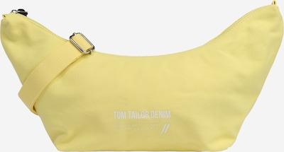 TOM TAILOR DENIM Schultertasche 'Lia' in hellgelb / weiß, Produktansicht