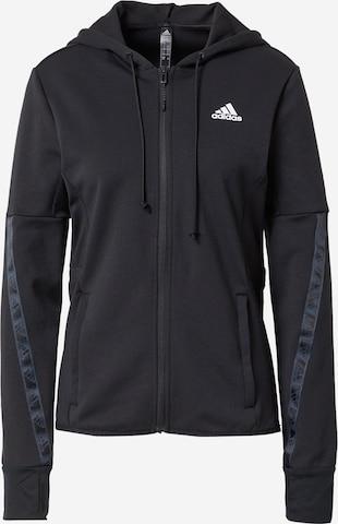 ADIDAS PERFORMANCE Bluza rozpinana sportowa w kolorze czarny