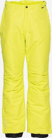 Pantalon outdoor 'TRAVIS' ICEPEAK en jaune