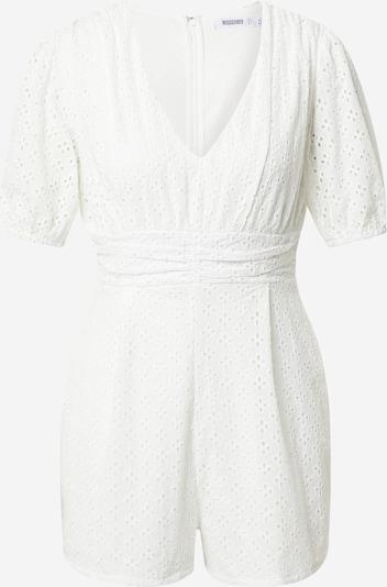 Missguided Jumpsuit 'BRODERIE' in weiß, Produktansicht