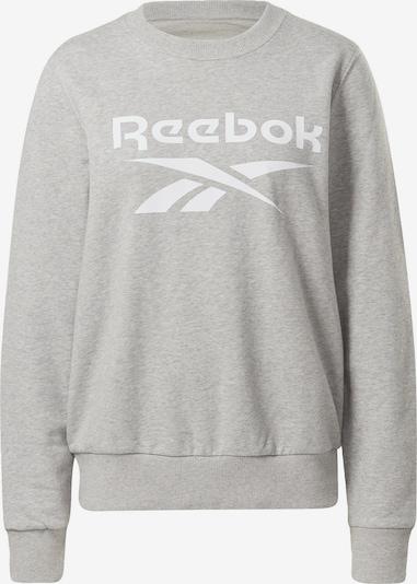REEBOK Sport sweatshirt i grå / vit, Produktvy