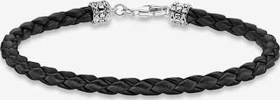 Thomas Sabo Bracelet in Black / Silver, Item view
