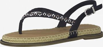 TAMARIS T-bar sandals in Blue