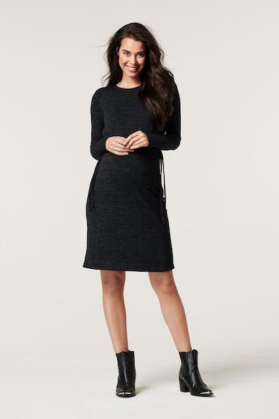 Esprit Maternity Still-Kleid in schwarzmeliert, Modelansicht