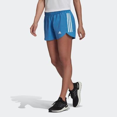 ADIDAS PERFORMANCE Shorts 'Run It' in himmelblau / weiß, Modelansicht