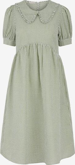 Rochie tip bluză 'Ida' PIECES pe verde / alb, Vizualizare produs