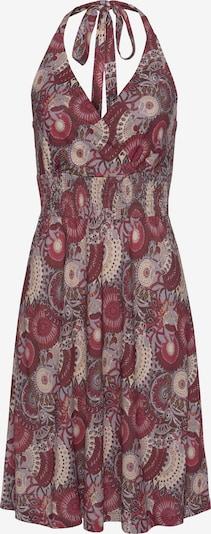 LASCANA Kleid in beige / rot: Frontalansicht