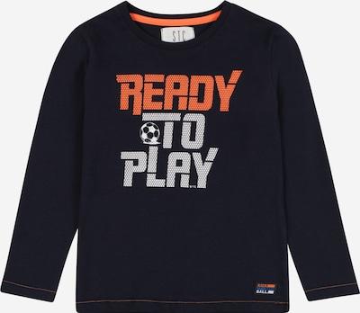 STACCATO Camiseta en marino / naranja / blanco, Vista del producto