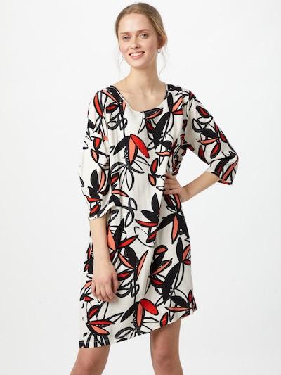Masai Kleid 'Nitassa' in knallrot / schwarz / weiß, Modelansicht
