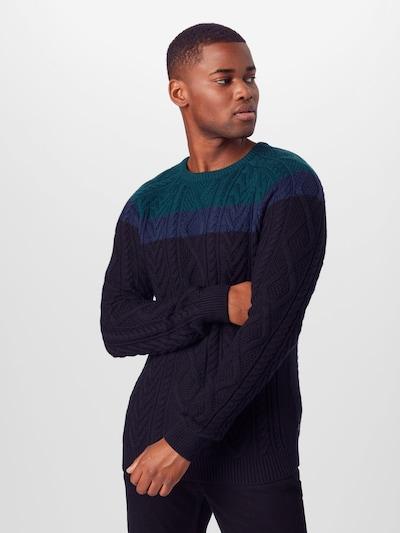 Megztinis iš ESPRIT , spalva - mėlyna / tamsiai mėlyna / tamsiai žalia: Vaizdas iš priekio