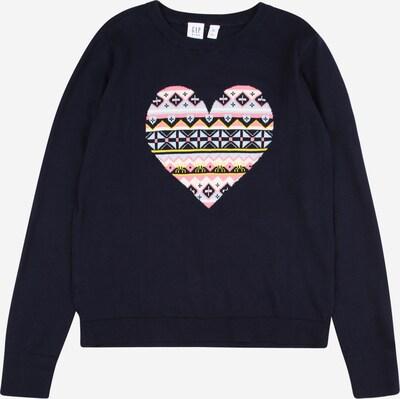 GAP Sweatshirt 'HEART' in de kleur Lichtblauw / Donkerblauw / Geel / Pink / Wit, Productweergave