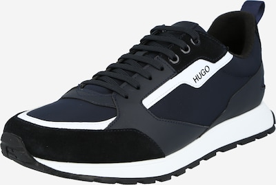 Sportbačiai be auliuko 'Icelin' iš HUGO , spalva - tamsiai mėlyna / juoda / balta, Prekių apžvalga