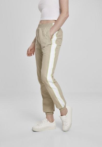 Urban Classics Broek in de kleur Camel / Neongroen / Wit, Modelweergave