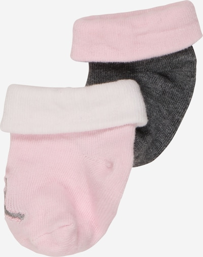 Jordan Socken in dunkelgrau / altrosa / weiß, Produktansicht