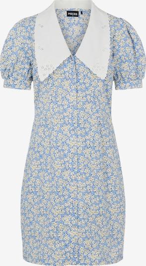 PIECES Kleid in blau / rauchblau / gelb / weiß, Produktansicht