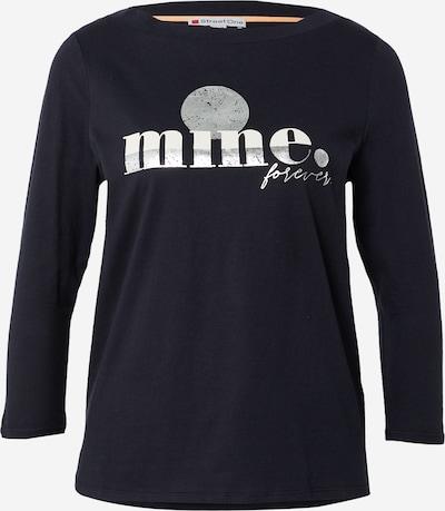 STREET ONE Shirt 'LTD QR mine' in navy / grau / weiß, Produktansicht