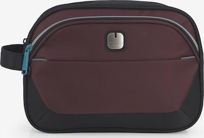 Gabol Toilettas 'Concept' in de kleur Grijs / Wijnrood / Zwart, Productweergave