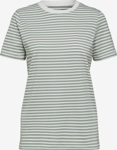 SELECTED FEMME T-Shirt in grün / weiß, Produktansicht