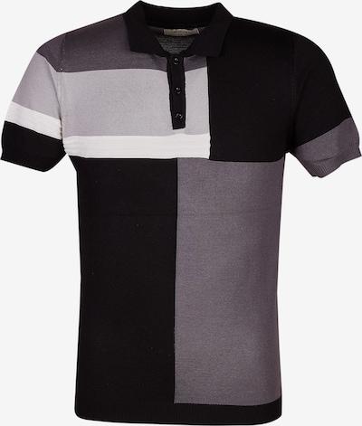 Leif Nelson Shirt in grau / schwarz / weiß, Produktansicht