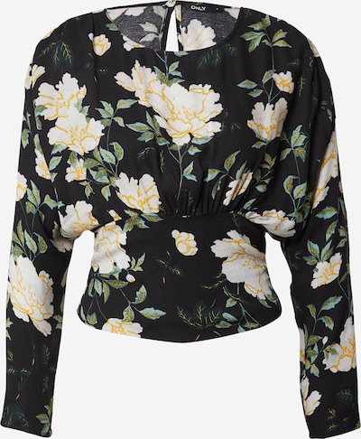 ONLY Blouse 'FAYE' in beige / gold yellow / dark green / mixed colours / black, Item view