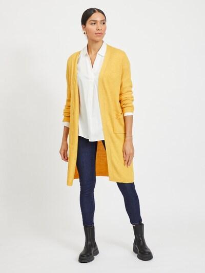 VILA Strickjacke 'Kib' in goldgelb, Modelansicht