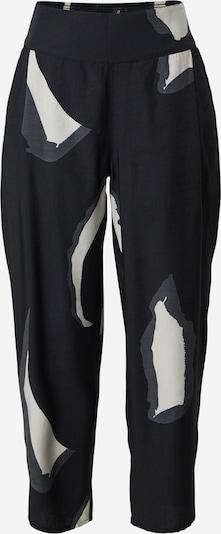Masai Bandplooibroek 'Paija' in de kleur Grijs / Zwart / Wit, Productweergave