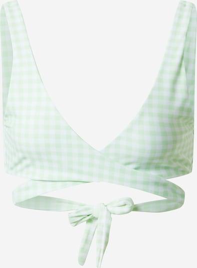 Sutien costum de baie HOLLISTER pe verde mentă / alb, Vizualizare produs