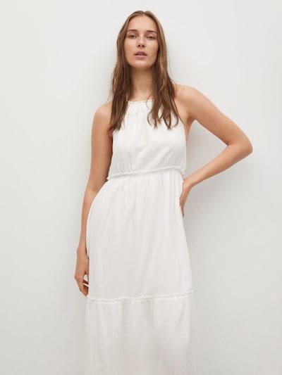 MANGO Kleid 'Quem' in weißmeliert, Modelansicht