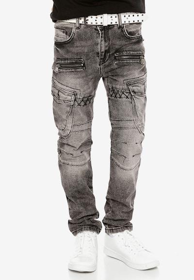 CIPO & BAXX Jeans in de kleur Zwart: Vooraanzicht