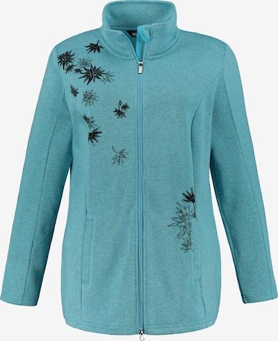 Ulla Popken Sweatvest in de kleur Turquoise, Productweergave