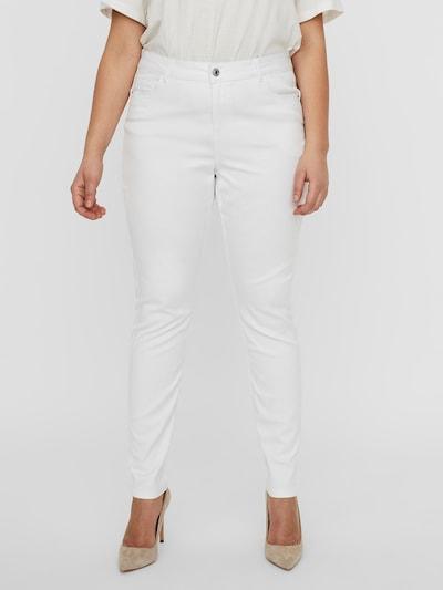 Vero Moda Curve Jeans 'Seven' in de kleur Wit, Modelweergave