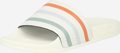 ADIDAS ORIGINALS Pantofle 'ADILETTE TOWEL' - světlemodrá / pastelově zelená / oranžová / bílá, Produkt