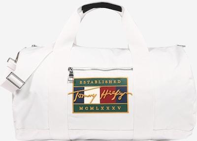 TOMMY HILFIGER Bolsa de fin de semana en ecru / azul oscuro / verde claro / rojo, Vista del producto